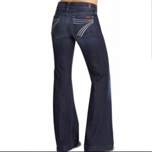 7 For All Mankind Dark Wash Flare Dojo Jeans Sz 28